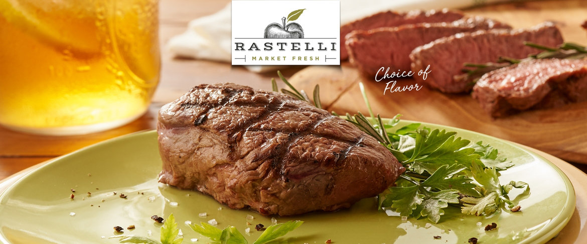 Today's Special Value® — Rastelli Market Fresh 8 or 16 6-oz Seasoned Top Sirloin Steaks