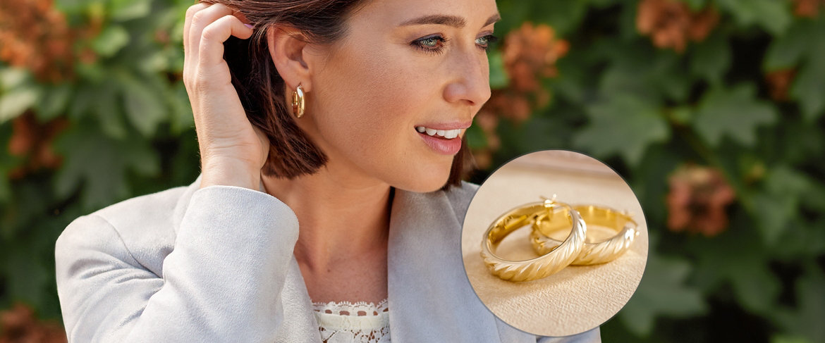 Today's Special Value® — Italian Gold Polished or Satin Twist Hoop Earrings 14K