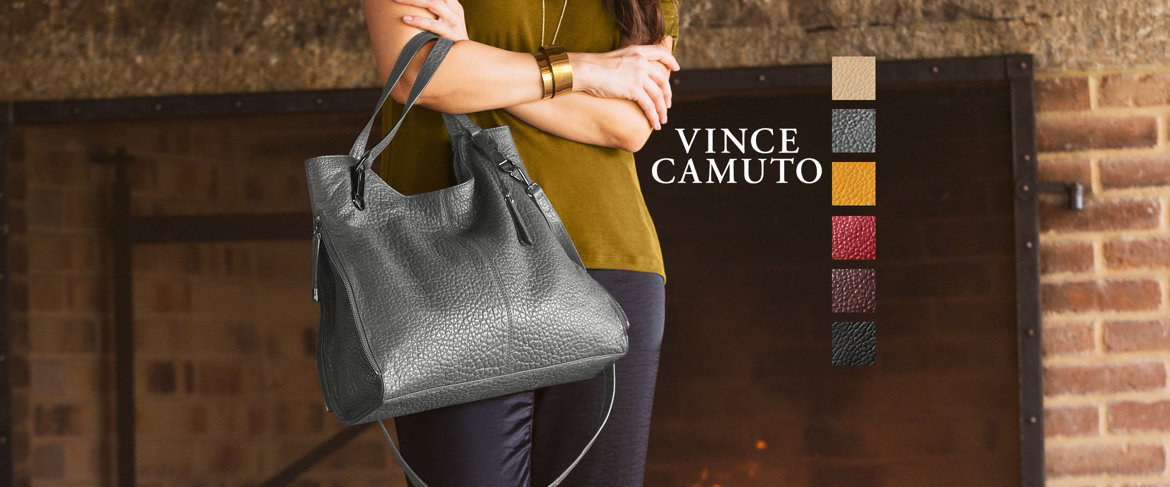 Today's Special Value® — Vince Camuto Convertible Leather Tote - Eliza