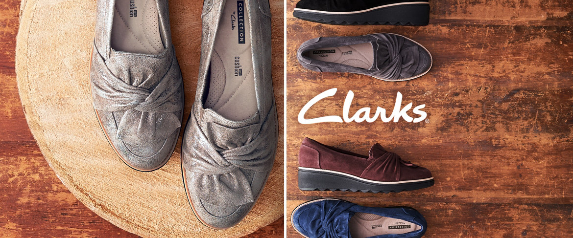 f50b49ee9c0 QVC) Clarks Suede Slip-On Loafer with Knotted Detail - Sharon Dasher ...