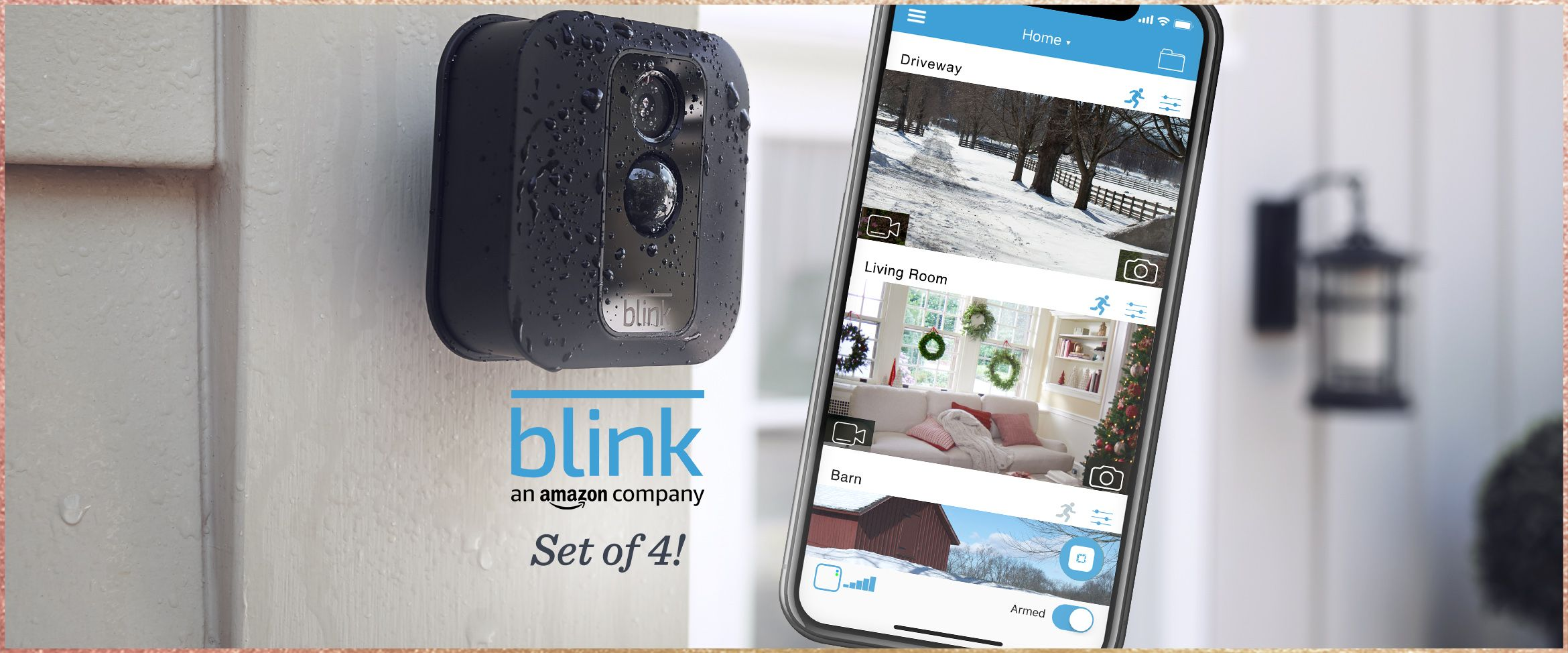Blink XT 3-Pack Wire-Free HD Weatherproof Wi-Fi Cameras w// Night Vision