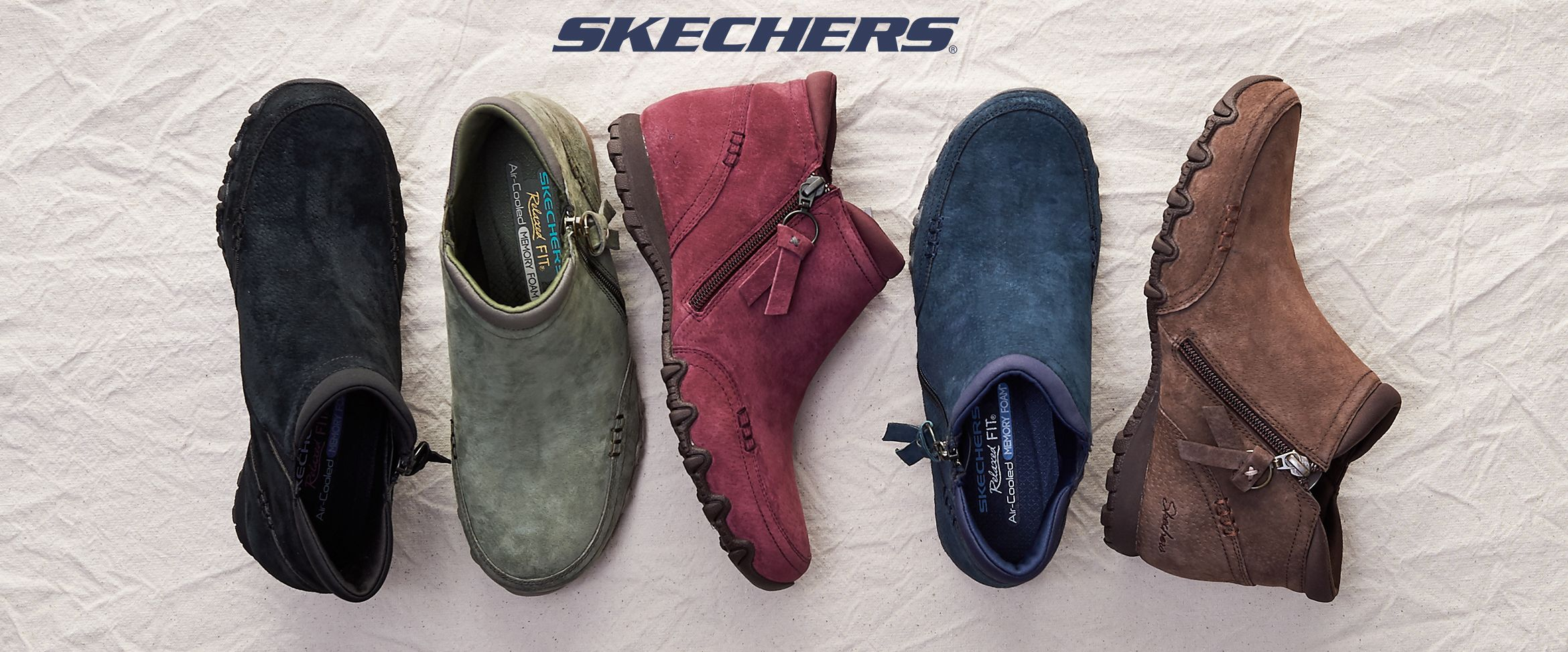 QVC) Skechers Relaxed Fit Suede Ankle