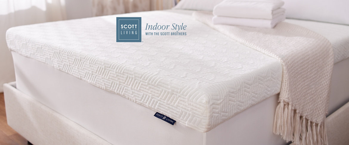 "Today's Special Value® — Scott Living 4"" Reversible Memory Foam Topper"