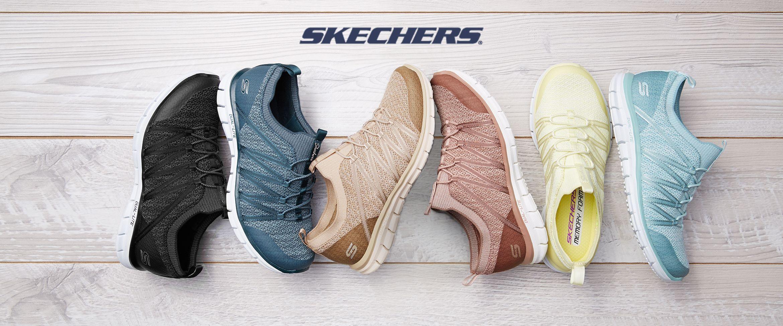 QVC) Skechers Stretch-Knit Bungee Slip
