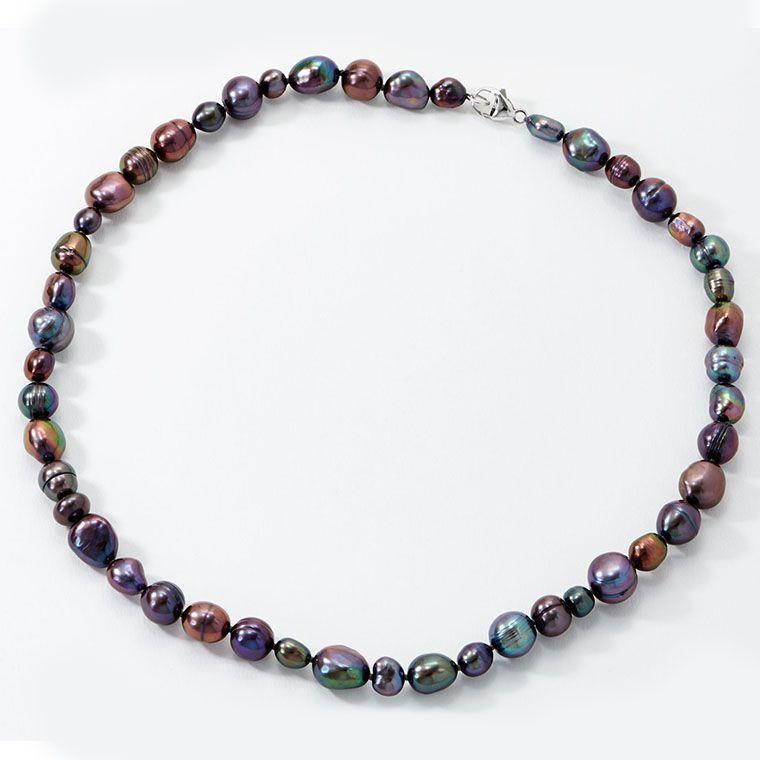 size average Honora Interchangeable Pearl  Earring and Bracelet Set indigo