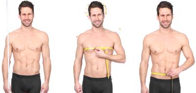 Messen von Körperhöhe und Brustumfang und Bundumfang
