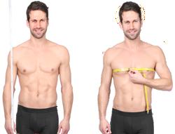 Messen von Körperhöhe und Brustumfang