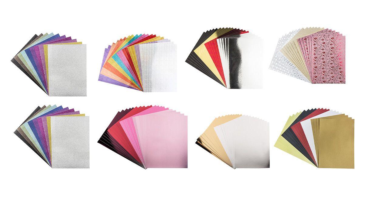 Clubartikel 588671 KARIN JITTENMEIER Kreativpapier-Set verschiedene Effekte 120tlg.