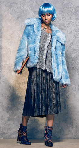 Bonnie Day faux fur jacket