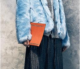 Amanda Wakeley orange clutch