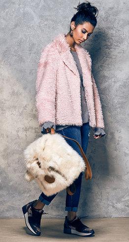 Isaac Mizrahi faux fur jacket