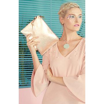 Faux Pearl Dress