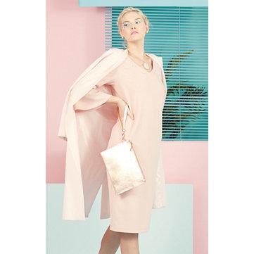 Snake Effect Leather Structured Shopper Bag
