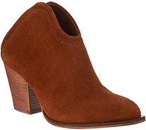 Chinese Laundry Open Back Split Suede Mule Bootie - Kelso - S9160