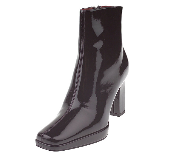 c33fd6d2633ec6 Tommy Hilfiger Black Patent Side Zip High Heel Ankle Boots. product  thumbnail. In Stock