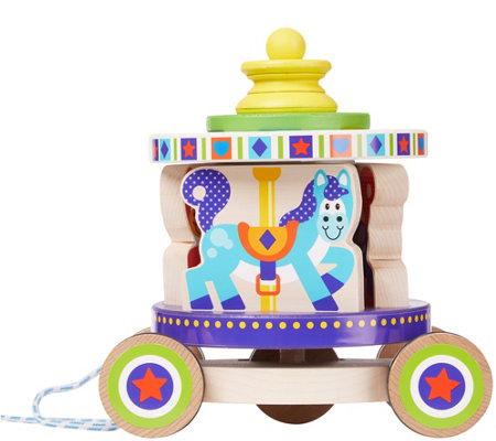 Melissa Doug Carousel Pull Toy