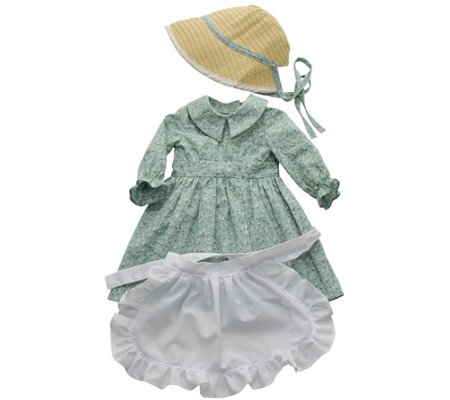 "The Queen's Treasures Little House 18"" Doll Calico Dress"