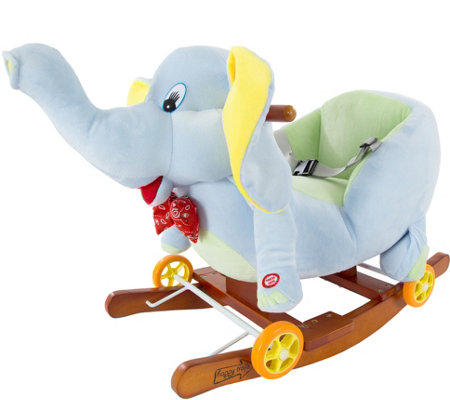 Happy Trails Rocking Elephant 2-in-1 Rockers &Wheels