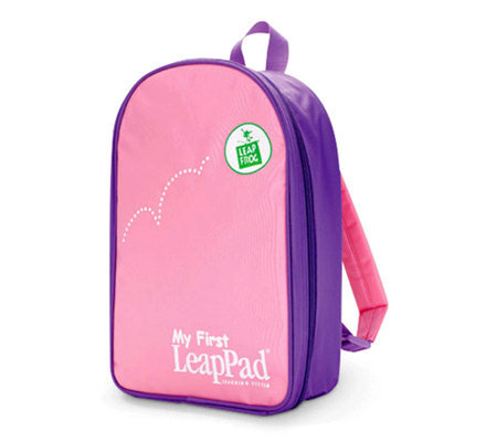 LeapFrog My First LeapPad Backpack - Pink — QVC.com 804d18e5cee3e