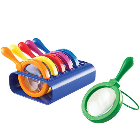 Set of 6 Jumbo Magnifiers by Learning Resources