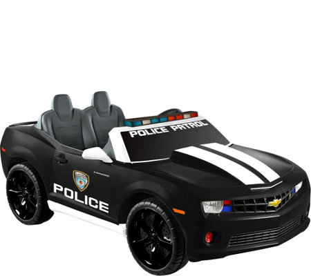 Kid Motorz Black Chevrolet Camaro Police Edition Two-Seater