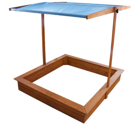Homeware Red Hemlock Sand Box With Canopy