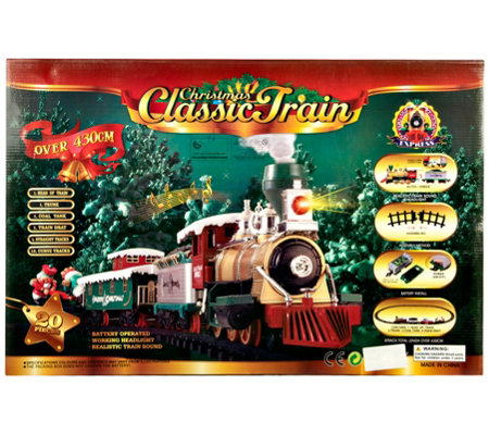 Christmas Train.Gener8 Battery Operated Christmas Train Qvc Com