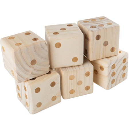 Hey! Play! Giant Wooden Yard Dice with CarryingCase
