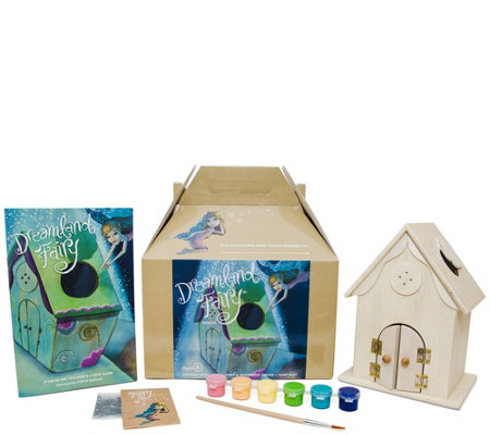 Dreamland Fairy House Kit With Book Paint Fairy Dust