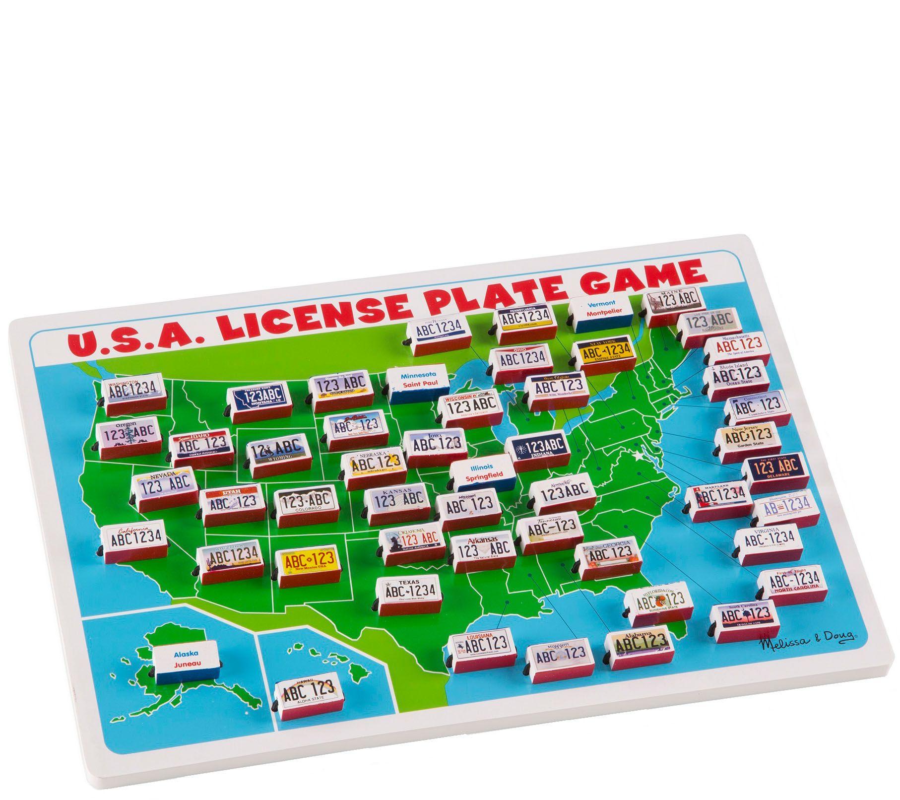 Melissa Doug Usa License Plate Game Qvc Com