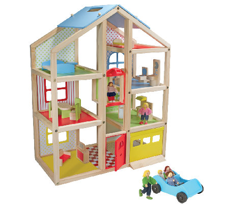Melissa & Doug High-Rise Dollhouse Bundle