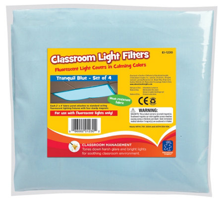 Educational Insights Fluorescent Light Filters,Set of 4