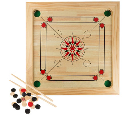 Hey! Play! Carrom Board Game Classic Strike andPocket Table