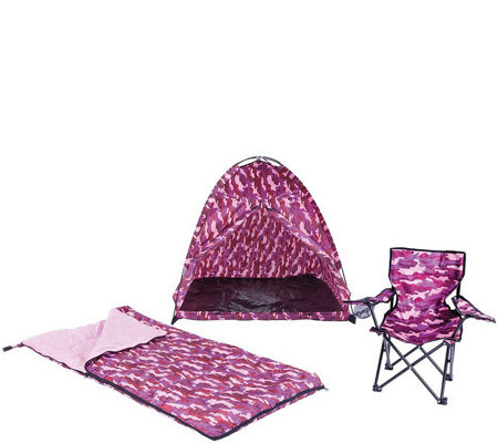 Pacific Play Tents Pink Camo Tent Set