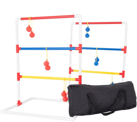 Hey! Play! Ladder Toss Outdoor Game Set with Carrying Case