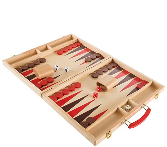 Hey! Play! Wood Backgammon Board Game