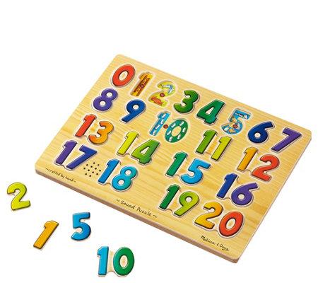 Melissa Doug Numbers Sound Puzzle