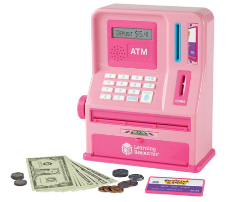 Learning Resources Pink Pretend & Play TeachingATM Bank
