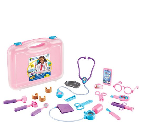 Learning Resources Pink Pretend & Play Doctor Set