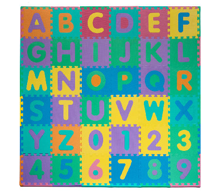 96-Piece Foam Floor Alphabet & Number Puzzle Mat