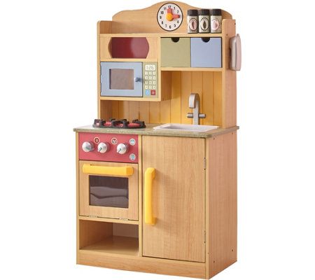 Teamson Kids Little Chef Burlywood Kitchen withAccessories