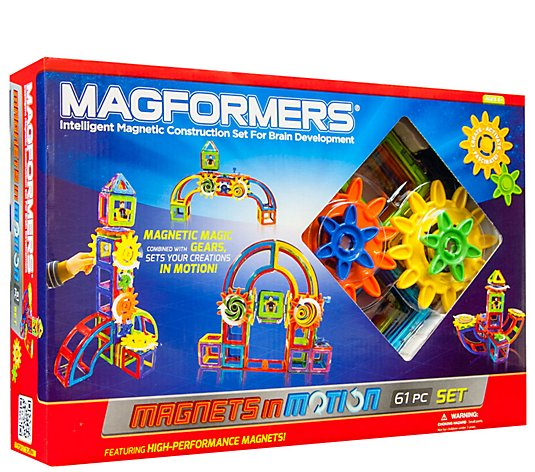 Magformers 61-Piece Magnets in Motion Set