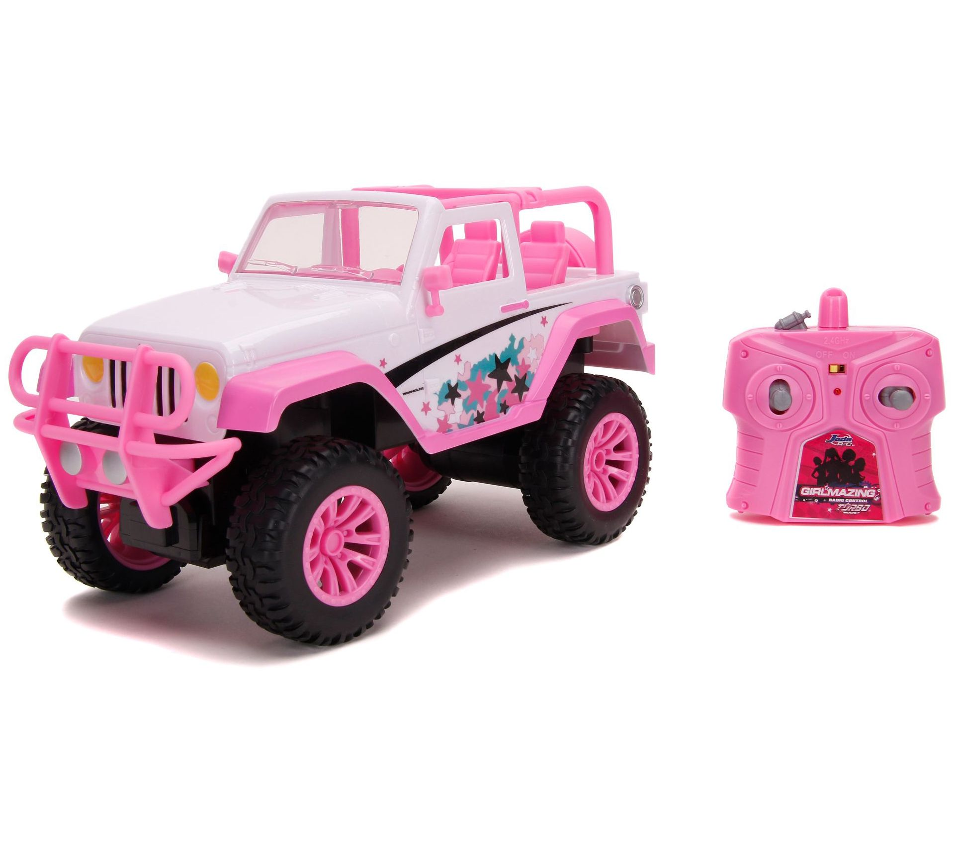 Jada Toys Girlmazing 1 16 Scale Rc Jeep Exclusive Star Deco Qvc Com