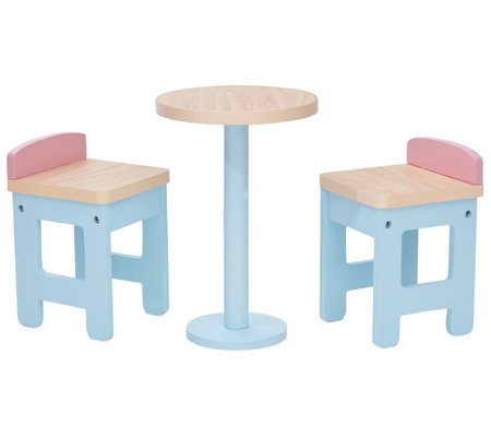 Olivia's Little World Modern Nordic Doll Bar Table&Chairs