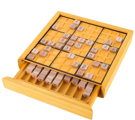 Hey! Play! Wood Sudoku Board Game Set