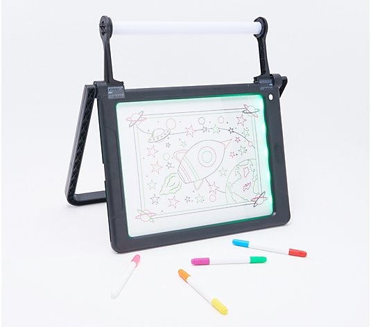 Double-Sided Glow Pad with 8 Markers & Light Modes