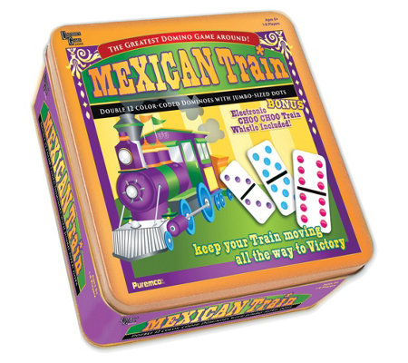 Puremco Mexican Train Prof Double 12 Color Dotdominoes