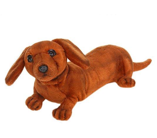 Hansa 12 Plush Dachshund Puppy Qvc Com
