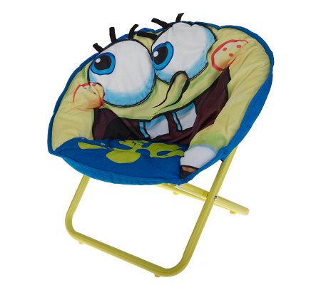 SpongeBob SquarePants Child Size 3-D Saucer Chair w/ Carry Bag  sc 1 st  QVC.com & SpongeBob SquarePants Child Size 3-D Saucer Chair w/ Carry Bag ...