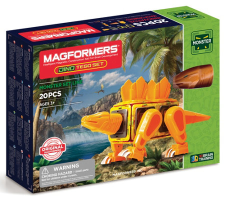 Magformers Monster Dino Tego 20 Piece Set